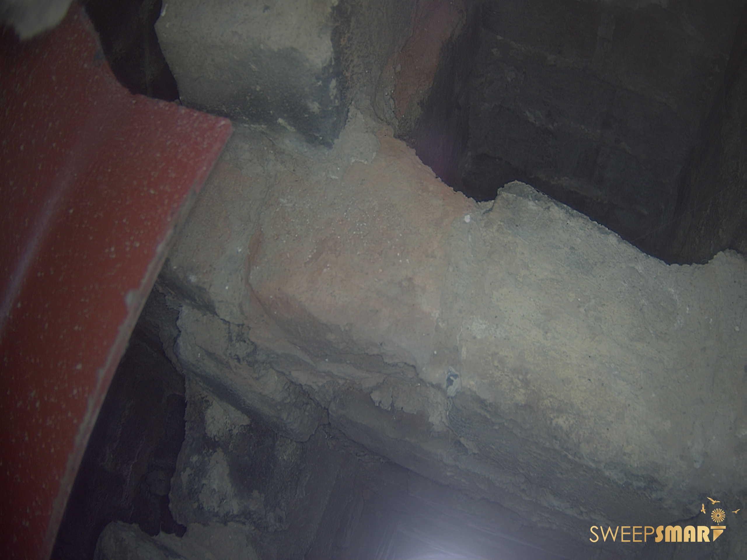 Broken chimney flue